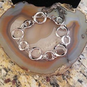 """Premier Design silver oval link bracelet 7""""-8"""" NWT"""